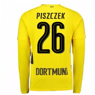 2017-18 Borussia Dortmund Long Sleeve Home Shirt (Piszczek 26)