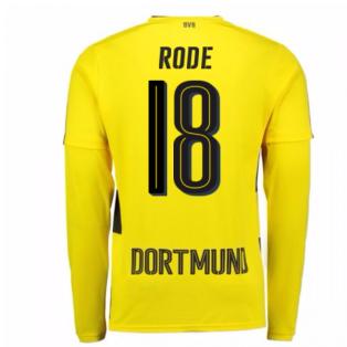 2017-18 Borussia Dortmund Long Sleeve Home Shirt (Rode 18)