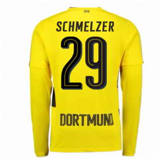 2017-18 Borussia Dortmund Long Sleeve Home Shirt (Schmelzer 29)
