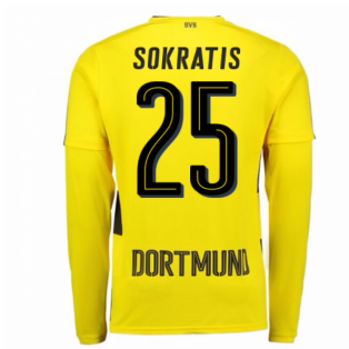 2017-18 Borussia Dortmund Long Sleeve Home Shirt (Sokratis 25)