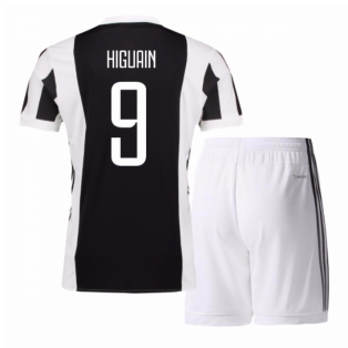 2017-18 Juventus Home Mini Kit (Higuain 9)