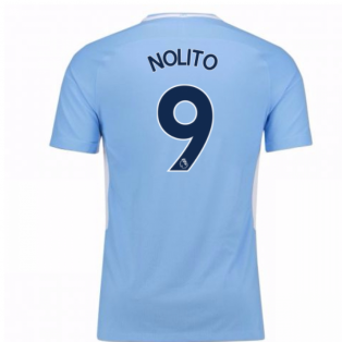 2017-18 Man City Home Shirt - Kids (Nolito 9)