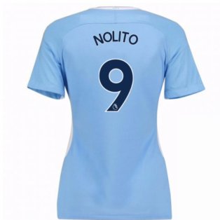 2017-18 Man City Womens Home Shirt (Nolito 9)