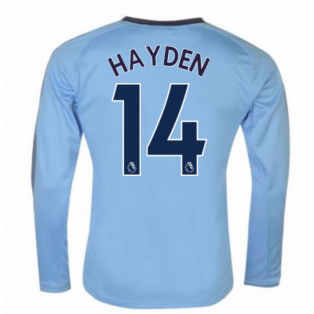 2017-18 Newcastle Away Long Sleeve Shirt (Hayden 14)
