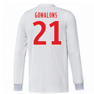 2017-18 Olympique Lyon Adidas Long Sleeve Home Shirt (Gonalons 21)