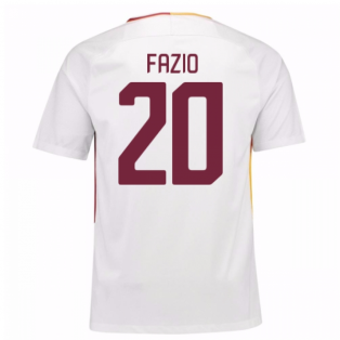 2017-18 Roma Away Shirt (Fazio 20) - Kids