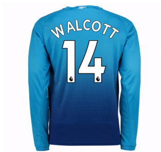 2017-2018 Arsenal Away Long Sleeve Shirt (Walcott 14) - Kids