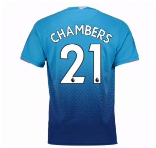 2017-2018 Arsenal Away Shirt (Chambers 21) - Kids