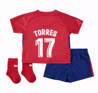 2017-2018 Atletico Madrid Home Baby Kit (Torres 17)