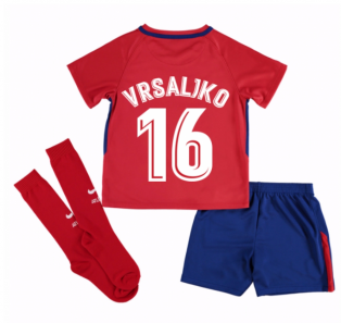 2017-2018 Atletico Madrid Home Mini Kit (Vrsaljko 16)