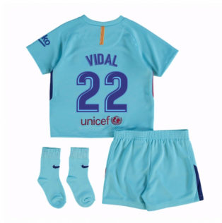 2017-2018 Barcelona Away Baby Kit (Vidal 22)