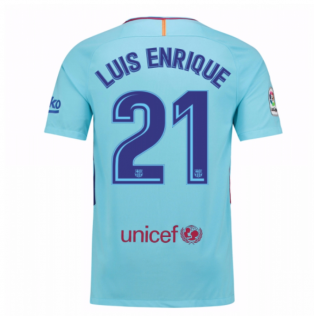 2017-2018 Barcelona Away Shirt (Luis Enrique 21)
