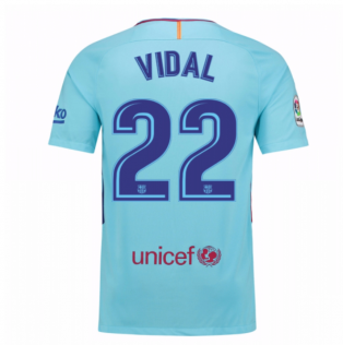 2017-2018 Barcelona Away Shirt (Vidal 22)