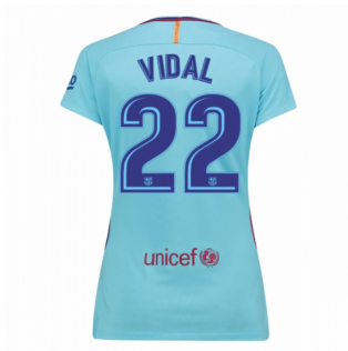 2017-2018 Barcelona Womens Away Shirt (Vidal 22)