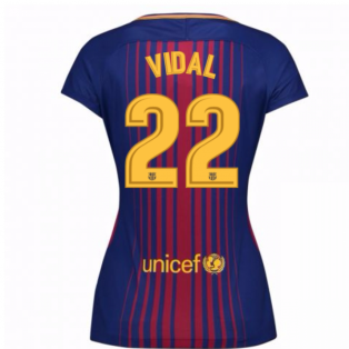 2017-2018 Barcelona Womens Home Shirt (Vidal 22)