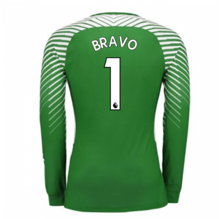 2017-2018 Man City Home Nike Goalkeeper Shirt (Green) (Bravo 1)