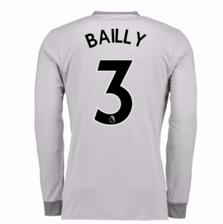 2017-2018 Man United Long Sleeve Third Shirt (Bailly 3) - Kids