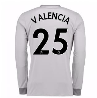 2017-2018 Man United Long Sleeve Third Shirt (Valencia 25) - Kids