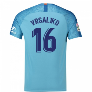 2018-19 Atletico Madrid Away Football Shirt (Vrsaljko 16) - Kids