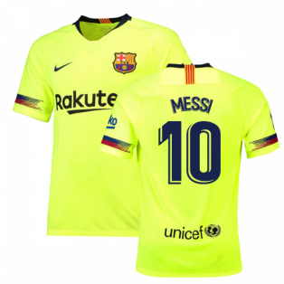 2018-19 Barcelona Away Shirt (Messi 10) - Kids