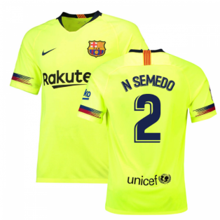2018-19 Barcelona Away Shirt (N Semedo 2)
