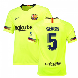 2018-19 Barcelona Away Shirt (Sergio 5) - Kids