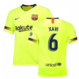 2018-19 Barcelona Away Shirt (Xavi 6) - Kids