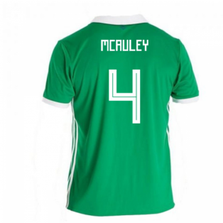 2018-19 Northern Ireland Home Football Shirt (McAuley 4)