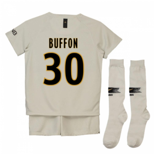 2018-19 Psg Away Mini Kit (Buffon 30)