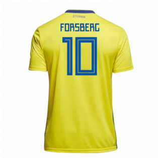 2018-19 Sweden Home Shirt (Forsberg 10) - Kids
