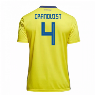 2018-19 Sweden Home Shirt (Granqvist 4)