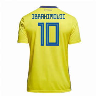 2018-19 Sweden Home Shirt (Ibrahimovic 10)