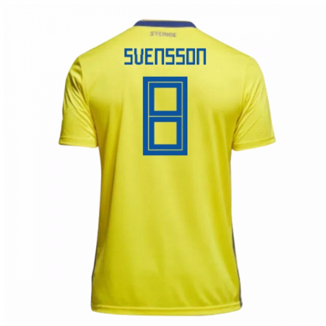 2018-19 Sweden Home Shirt (Svensson 8)