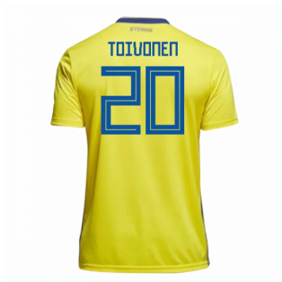 2018-19 Sweden Home Shirt (Toivonen 20)