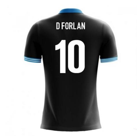 2018-19 Uruguay Airo Concept Away Shirt (D Forlan 10)