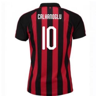 2018-2019 AC Milan Puma Home Football Shirt (Calhanoglu 10) - Kids