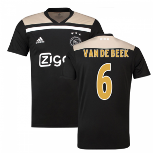 2018-2019 Ajax Adidas Away Football Shirt (Van De Beek 6)
