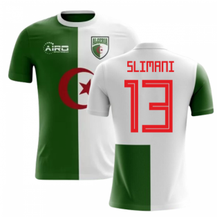 2018-2019 Algeria Home Concept Football Shirt (Slimani 13)