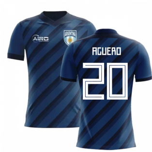 2018-2019 Argentina Away Concept Football Shirt (Aguero 20)