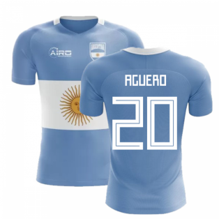 2018-2019 Argentina Flag Concept Football Shirt (Aguero 20)