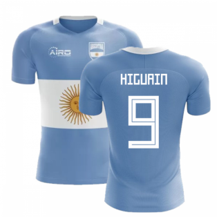 2018-2019 Argentina Flag Concept Football Shirt (Higuain 9)