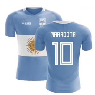 2020-2021 Argentina Flag Concept Football Shirt (Maradona 10)