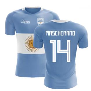 2018-2019 Argentina Flag Concept Football Shirt (Mascherano 14)