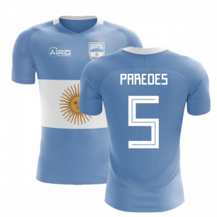 2020-2021 Argentina Flag Concept Football Shirt (Paredes 5)