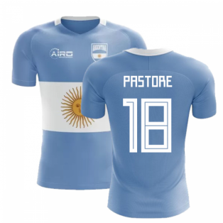 2020-2021 Argentina Flag Concept Football Shirt (Pastore 18)