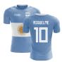 2020-2021 Argentina Flag Concept Football Shirt (Riquelme 10)