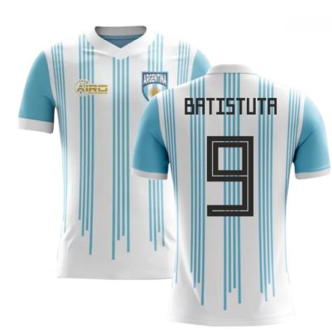 2018-2019 Argentina Home Concept Football Shirt (Batistuta 9)