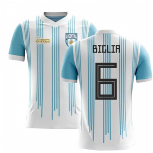 2018-2019 Argentina Home Concept Football Shirt (Biglia 6)
