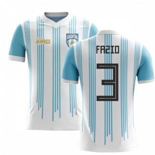 2018-2019 Argentina Home Concept Football Shirt (Fazio 3)