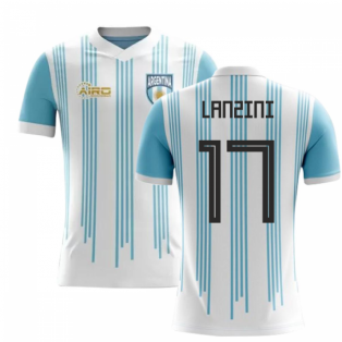 2020-2021 Argentina Home Concept Football Shirt (Lanzini 17)